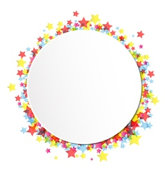 Label on star confetti vector