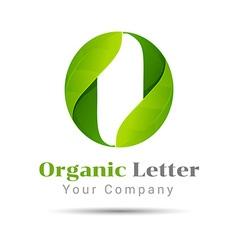 O letter green eco logo volume icon design vector