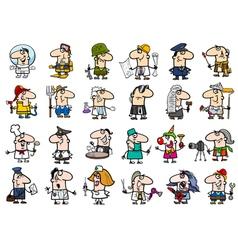 Occupations cartoon set vector