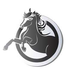 Black horse logo vector