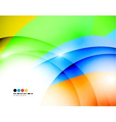 Light colorful modern wave banner vector