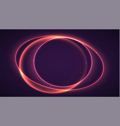Abstract ring background with luminous swirling vector