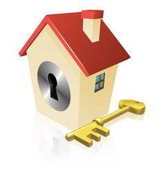 House keyhole key concept vector