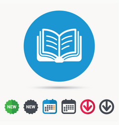 Book icon study literature sign vector
