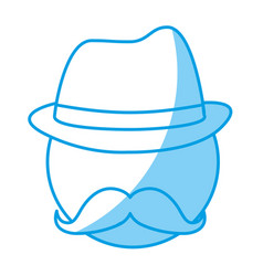 Hat and mustache design vector