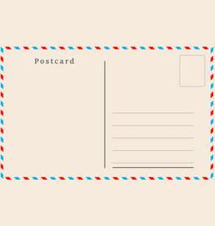 vintage postcard design vector image