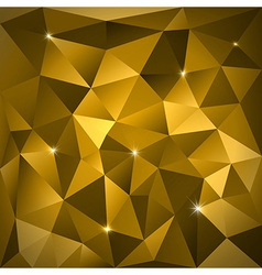Gold triangles vector