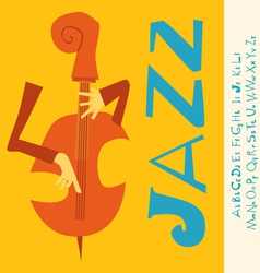 Jazz concert music with font vector