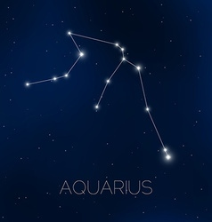 Aquarius constellation in night sky vector