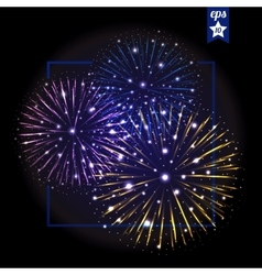 Festive fireworks holidays background vector
