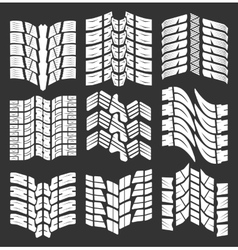 Set of tire tracks vector