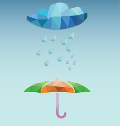 Weather rainy and umbrella vector