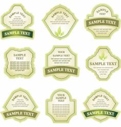 label copy space vector image