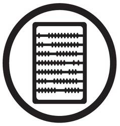 Abacus icon black vector
