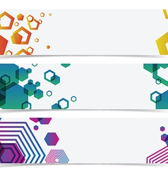 Abstract geometry colorful banner header vector