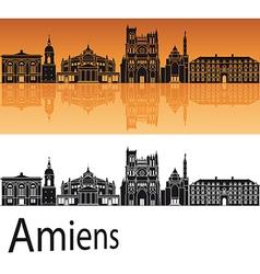 Amiens skyline in orange background vector
