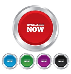 Available now icon shopping button vector