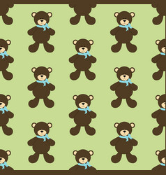 Bear toy seamless pattern vector