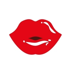 Body part female design mouth icon vector image vector image