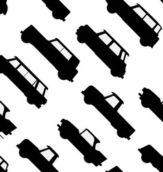 Car icon seamless pattern vector image vector image