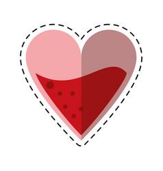 Cartoon medical heart blood design vector
