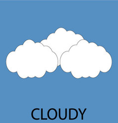Cloudy icon weather vector image