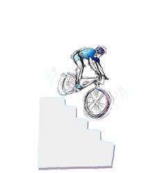 Cycling - Cyclist vector image vector image