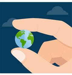 Global In Hand vector image