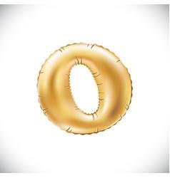 gold balloon font part of full set upper case vector image
