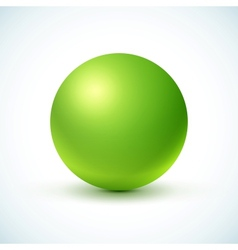 Green glossy sphere vector image vector image