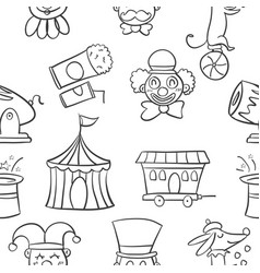 Hand draw object circus of doodles vector