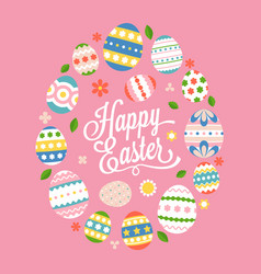 happy easter calligraphic lettering hand font vector image vector image