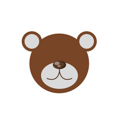 Head bear cute animal image vector