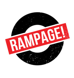 Rampage rubber stamp vector