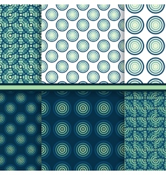 Set of circle seamless patterns vector image vector image