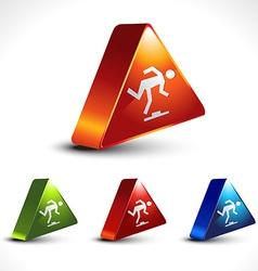 step warning sign vector image