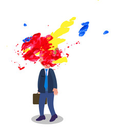 stressed manager with exploded head vector image vector image