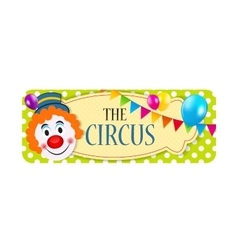 The Circus Banner vector image
