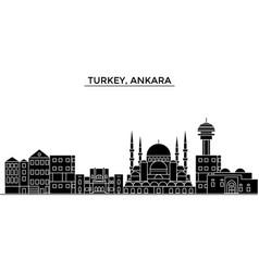Turkey ankara architecture city skyline vector
