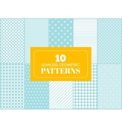 Vintage different seamless patterns vector image vector image