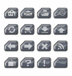 web icons a silver vector image
