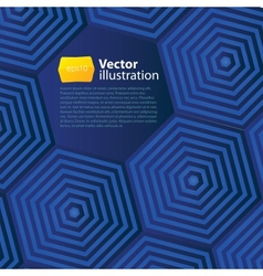 Abstract business background with hexagons vector