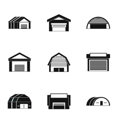 Storage icons set simple style vector