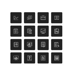 Simple business and finance isolated icon set vector