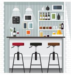 Kitchen bar vector