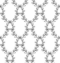 Black seamless pattern with drawn branches vector