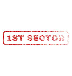 1st sector rubber stamp vector