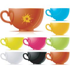 set of tea cup vector image