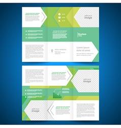 brochure folder leaflet geometric abstract arrows vector image