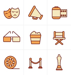 Icons style movie icons design vector